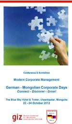 German-Mongolian Corporate Days 2012 / Deutsch-Mongolische Wirtschaftstage 2012